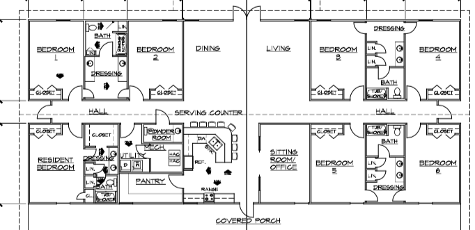 Amusing group house plans ideas best inspiration home for Group home floor plans